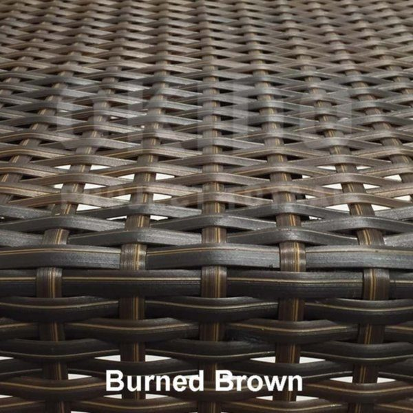Kunststof wicker in kleur burned brown