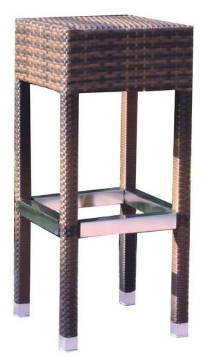 Wicker terras-barkruk donkerbruin