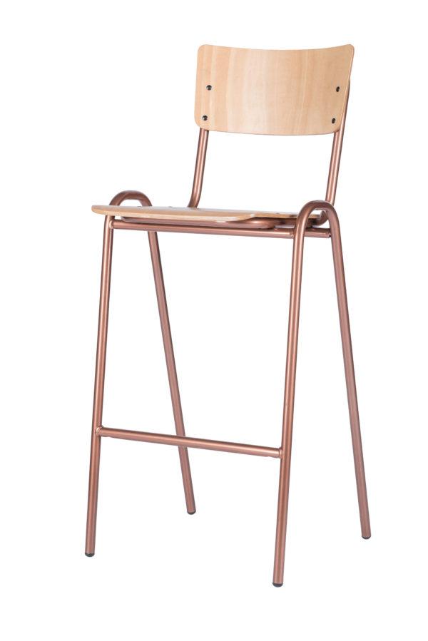 retro copper barkruk